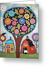 Round Tree Greeting Card by Karla Gerard