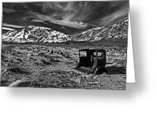Round Valley Relic Revisited Greeting Card