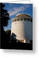 Round Water Tank In The Sun Greeting Card