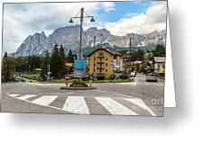 Roundabout Cortina D'ampezzo  Greeting Card