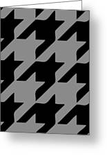 Rounded Houndstooth Black Pattern 03-p0123 Greeting Card