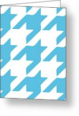 Rounded Houndstooth White Background 03-p0123 Greeting Card