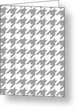 Rounded Houndstooth White Background 09-p0123 Greeting Card