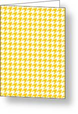 Rounded Houndstooth White Background 18-p0123 Greeting Card