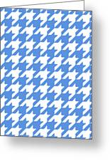 Rounded Houndstooth White Pattern 09-p0123 Greeting Card