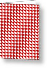Rounded Houndstooth White Pattern 18-p0123 Greeting Card