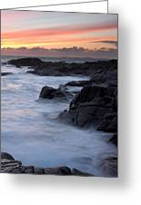 Roundstone Sunset Greeting Card