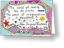 Rousseau Doodle Quote Greeting Card