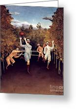Rousseau: Football, 1908 Greeting Card