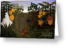 Rousseau: Lion Greeting Card