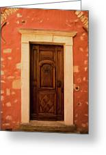 Roussillon Red And Door Greeting Card