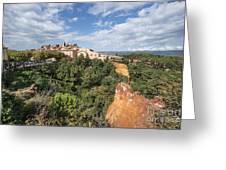 Roussilon Provence  Greeting Card by Juergen Held