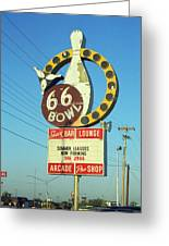 Route 66 Bowl Greeting Card