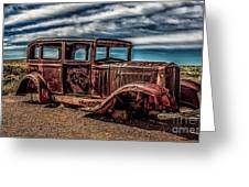 Route 66 Car Greeting Card