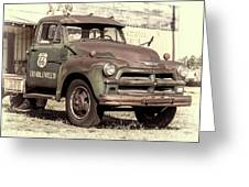 Route 66 Chevy Tumbleweed - #3 Greeting Card