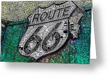 Route 66 Digital Stained Glass Greeting Card