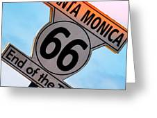 Route 66 End Of The Trail Greeting Card by Michael Hope
