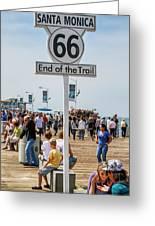 Santa Monica Route 66 End of The Trail Mens Fleece Hoodie Sweatshirt