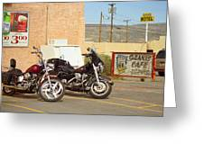 Route 66 - Grants New Mexico Motorcycles Greeting Card