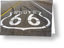 Route 66 Highway Sign Greeting Card