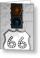Route 66 Greeting Card by Karen Scovill