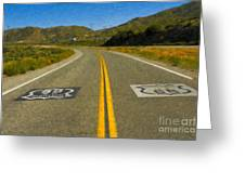 Route 66 National Historic Road Greeting Card
