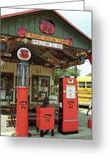 Route 66 - Shea's Gas Station Greeting Card