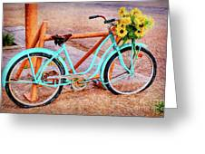 Route 66 Vintage Bicycle Greeting Card