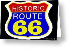 Route 66 Vintage Sign Greeting Card