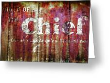 Route Of The Chief Greeting Card by Lou Novick