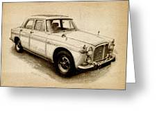 Rover P5 1968 Greeting Card