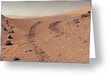 Roving Across Mars 1 - Earth Light Greeting Card