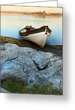 Row Boat On Shore Greeting Card