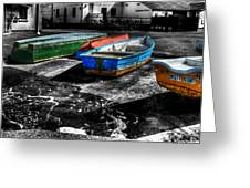 Row Boats At Mudeford Greeting Card