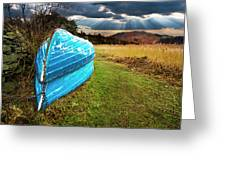 Row Boats In Waiting Greeting Card by Meirion Matthias