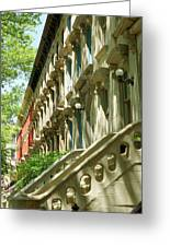 Row Houses In White Greeting Card