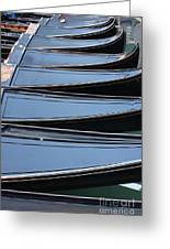 Row Of Gondolas In Venice Greeting Card