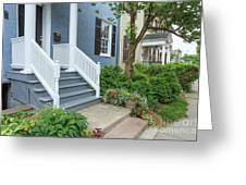 Row Of Historic Row Houses Greeting Card