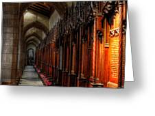 Row Of Thrones Greeting Card