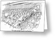 Row Row Row Greeting Card by John Crowther