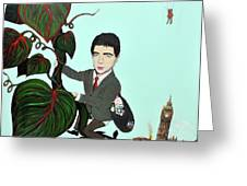 Rowan Atkinson Mr Beanstalk Greeting Card