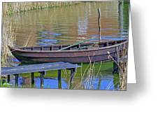 Rowboat And Blue Reflections Greeting Card
