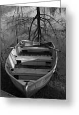 Rowboat And Tree Greeting Card
