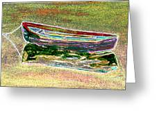 Rowboat Fluorescence 1 Greeting Card