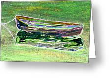 Rowboat Fluorescence 2 Greeting Card