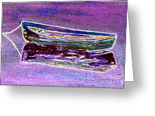 Rowboat Fluorescence 3 Greeting Card