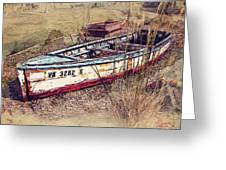 Rowboat Modified Greeting Card