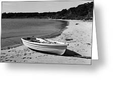 Rowboat On The Beach Greeting Card