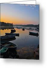 Rowboats At Rest Greeting Card