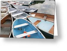 Rowboats In Quissett Harbor Greeting Card